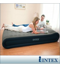 INTEX  Inflating Airbed with built-in pillow