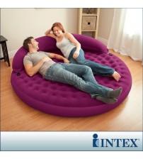 INTEX豪華長植毛靠背半躺圓形梳化