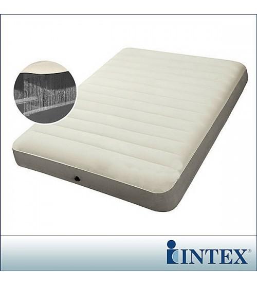 INTEX乳白色線拉雙人充氣床